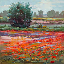 i ran across a painting from 6 or 7 years ago that i had done in the studio using a small provence field sketch as reference