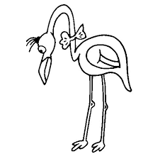 Small Picture Flamingo with bow tie coloring page Coloringcrewcom