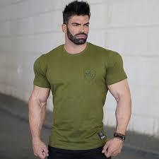 2017 summer new mens cotton t shirt fitness short sleeve o neck shirts male