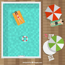 swimming pool vector. Swimming Pool In A Top View Background Free Vector