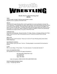 Moeller Kid Crusader Wrestling Club Fill Online, Printable, Fillable ...