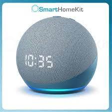 Loa thông minh Amazon Echo Dot 4 With CLOCK, loa tích hợp trợ lý Alexa,  hiển thị đồng hồ số trên mặt loa tốt giá rẻ