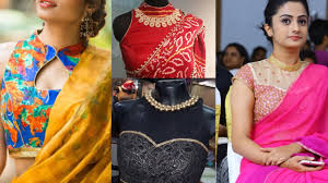 Blouse Design For Youngsters Beautiful High Neck Blouse Designs For Sarees Latest Blouse Designs For Girls Farewell Sari Blouse