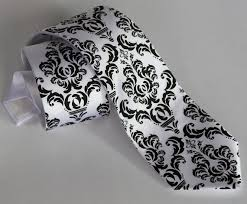 Damask Tie Damask Tie Classic Filigree Wedding Necktie Elegant Black And White Damask Grooms Tie Wedding Ties Floral Tie For Groomsmen Best Man