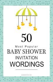 words invitation 75 most popular baby shower invitation wordings food family