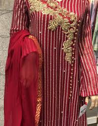 Waseem Noor Designer Waseem Noor Wn016 Chiffon Zardozi Long Dress
