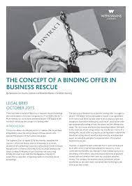 043980 WERKSMANS legal brief business rescue.indd