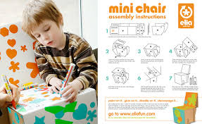 Cardboard chair instructions Durable Buzzlike Diy Decorating For Kids From Elia