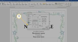 How To Make A Certificate In Word 2010 Using A Certificate Template In Microsoft Word