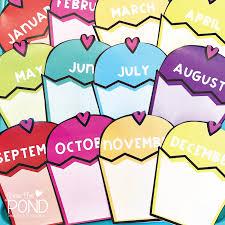 Card Birthday Chart 16 My Handmade Cards Birthday Chart For My Classroom School