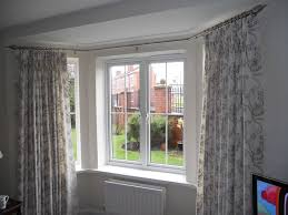 continuous curtain rod eyelet ideas bay window