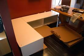 full image for build banquette seating kitchen banquette bench using cabinets s building the banquette banister