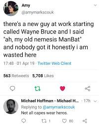 Wayne Bruce, The ManBat : WhitePeopleTwitter