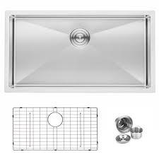 bai 1248 33 shallow handmade stainless steel kitchen sink single bowl