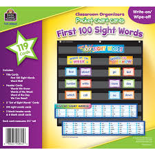 First 100 Sight Words Pocket Chart Cards Id 24557