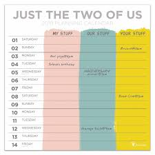 Just The Two Of Us Couples Planner 2019 Calendar Club Uk