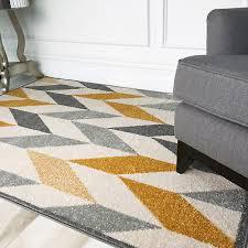 moroccan ochre yellow grey chevron rug soft warm geo herringbone floor area rugs