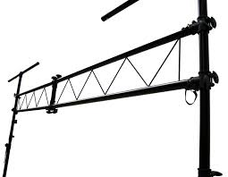 pro audio dj light lighting fixture portable truss trussing with 10 foot t bar light stands package