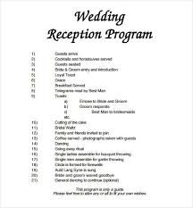 wedding party program templates 72 wedding program template free word pdf psd documents