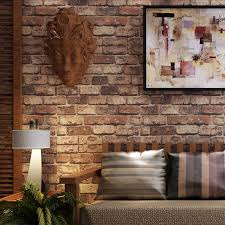whole red brick stone paper wall natural rustic vintage 3d effect designer vinyl wallpaper for living room background wall decor aishwarya rai