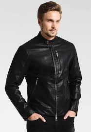 armani exchange faux leather jacket black leather jackets for men