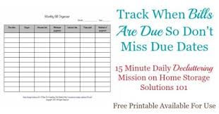 bill organizer template printable monthly bill organizer to make sure you pay bills on time