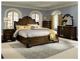 Superior Monticello Pecan 7 PC King Bedroom Package