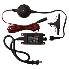 12 watt low voltage outdoor transformer with 9 ft harness wire and t