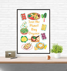 organic food poster delicious food wall art on wall art pictures of food with organic food poster delicious food wall art liv wan illustration