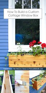 Diy Window Boxes Remodelaholic How To Build A Custom Cedar Cottage Window Box