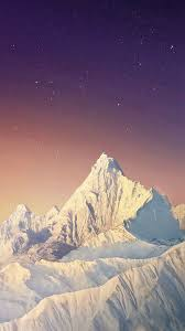 Pure Simple Snowy Mountains Skyscape ...