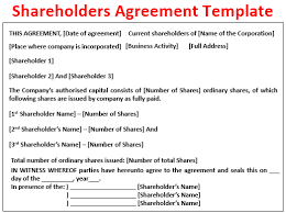 Similar to a rental agreement and commission agreement, a shareholder agreement will need to point out all of the parties that are involved, and that obviously the shareholders that will sign it and the corporation. Shareholders Agreement Definition Template How It Works