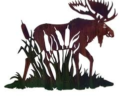 24 moose with cattails metal wall art by neil rose on neil rose metal wall art with 24 moose with cattails metal wall art by neil rose wildlife wall
