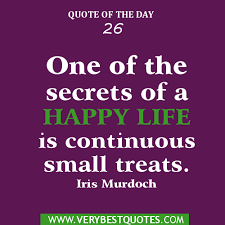 Small Life Quote Cool One Of The Secrets Of A Happy Life Is Continuous Small Treats Life