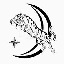 Skákací Tygr Tetování Stock Photos Vectorhqcom