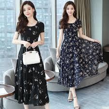 <b>HUTI</b> WJWYL <b>Summer</b> Floral Print Chiffon Dress Plus size sundress ...