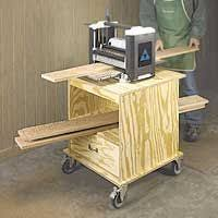 dewalt planer stand. planer stand features an open shelf and a drawer. this woodworking plan appeared in shopnotes dewalt e