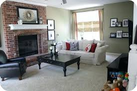 red brick fireplace paint colors for living room with red brick fireplace modern house layout ideas red brick fireplace