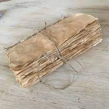 How to antique paper using coffee staining. Tea Dyed Paper Journal Coffee Stained Paper Bravely Etsy Tea Dyeing Tea Stained Paper How To Age Paper