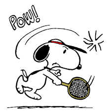 The World Famous Tennis Player Art スヌーピーソフトテニス