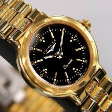 17 best images about longines hens gold watches longines conquest ladies quartz black dial 18k gold plated swiss rare used watch longines