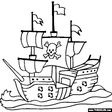 Small Picture HalloweenPiratesPicturesToColor Boat Ship Speedboat