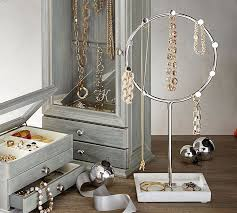 Jewelry Stands And Displays Harper Marble Jewelry Stand Pottery Barn 94