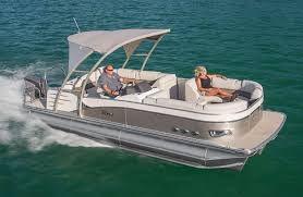 2018 tahoe cascade platinum rear j lounge pontoon boat sding in water side view photo
