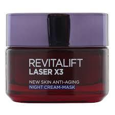 l paris revitalift laser x3 anti ageing renew night cream mask gentle lip and eye