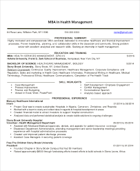 Ingenious He Healthcare Management Resume Amazing Professional