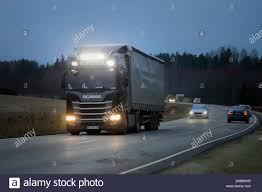 Scania Lights New Scania R450 Truck Bater Pulling Semi Trailer Lights Up