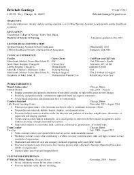 Nursing extern resume. Rebekah Santiago 773-807-9323 11352 S. Troy,  Chicago, IL.