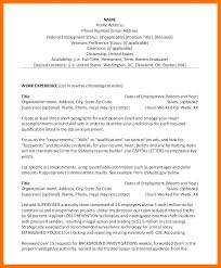 Federal Resume Sample Resume Example Resume Sample Federal Resume ...