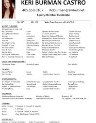 Charming Ideas Audition Resume Format Chenery Middle School .